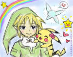 Link and Pikachu
