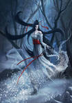 Yuki-Onna, the Snow Spirit by Takeda11