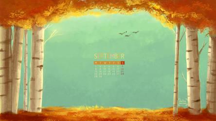 Autumn Calendar Delia Tee by deliatee