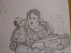 Space dictator with power armor