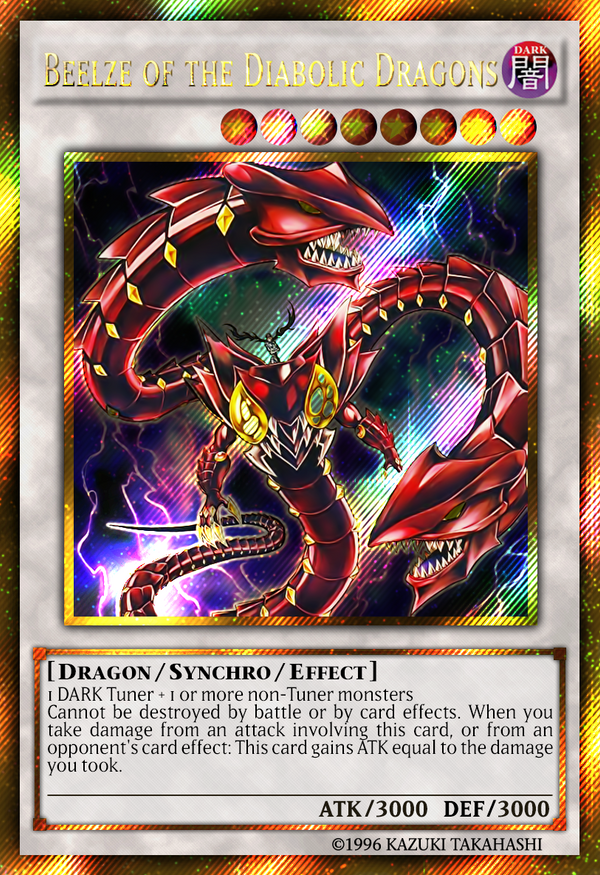 (Gold Secret Rare) Beelze of the Diabolic Dragons by ...