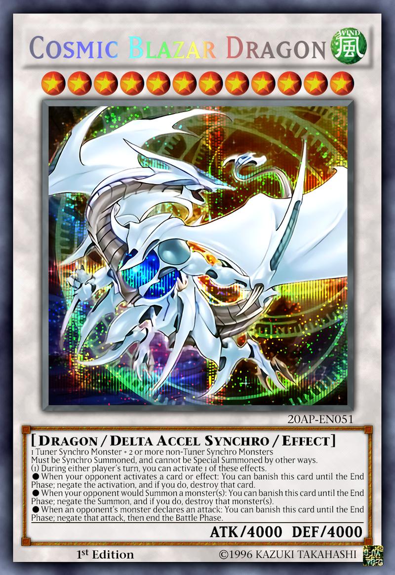 cosmic blazar dragon ocg secret rare by sangmaitre on deviantart