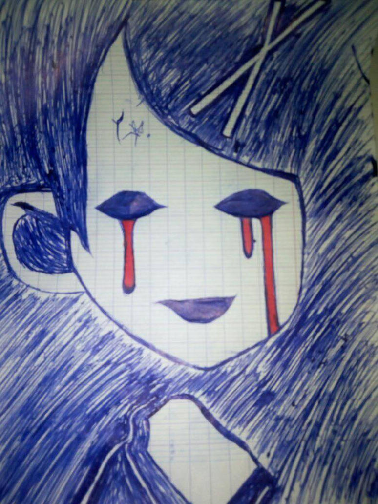sad face /blood eyes /dark side by TheRiper86