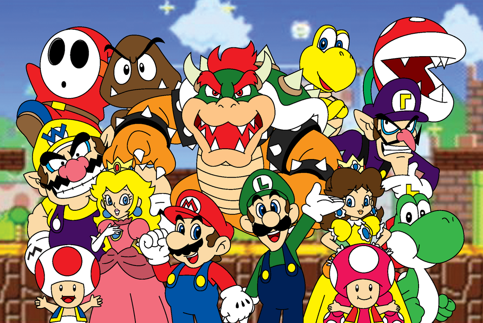 Mario Bros Coloring By Number Pages