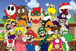 Super Mario and Friends - Complete Poster
