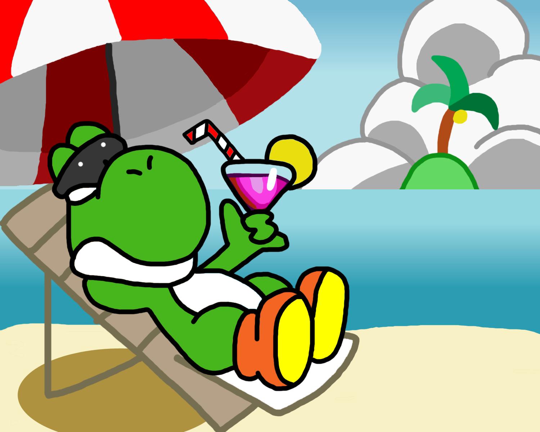 Yoshi Chillin In The Summertime By Supersmashin3dland On Deviantart