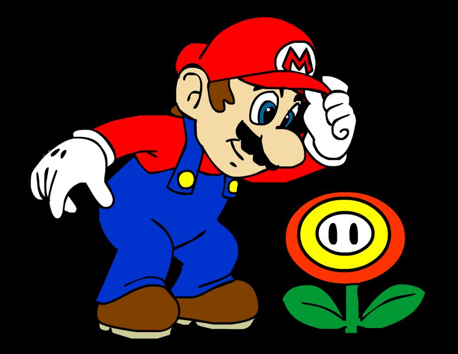 Mario Finds A Fire Flower By SuperSmashIn3DLand