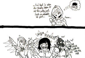 Ana's arrival Sketch Comic by ColonelPigmask