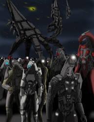 Mass Effect Geth Heretics by RudeArbiter117