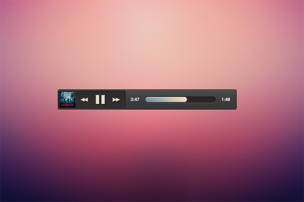Mini Music Player [Free PSD]