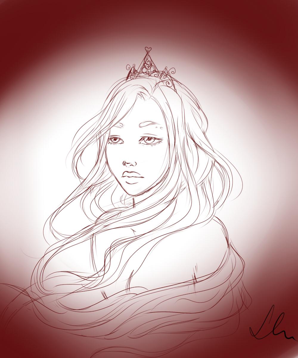 Random Princess sketch by Laura-Nagy