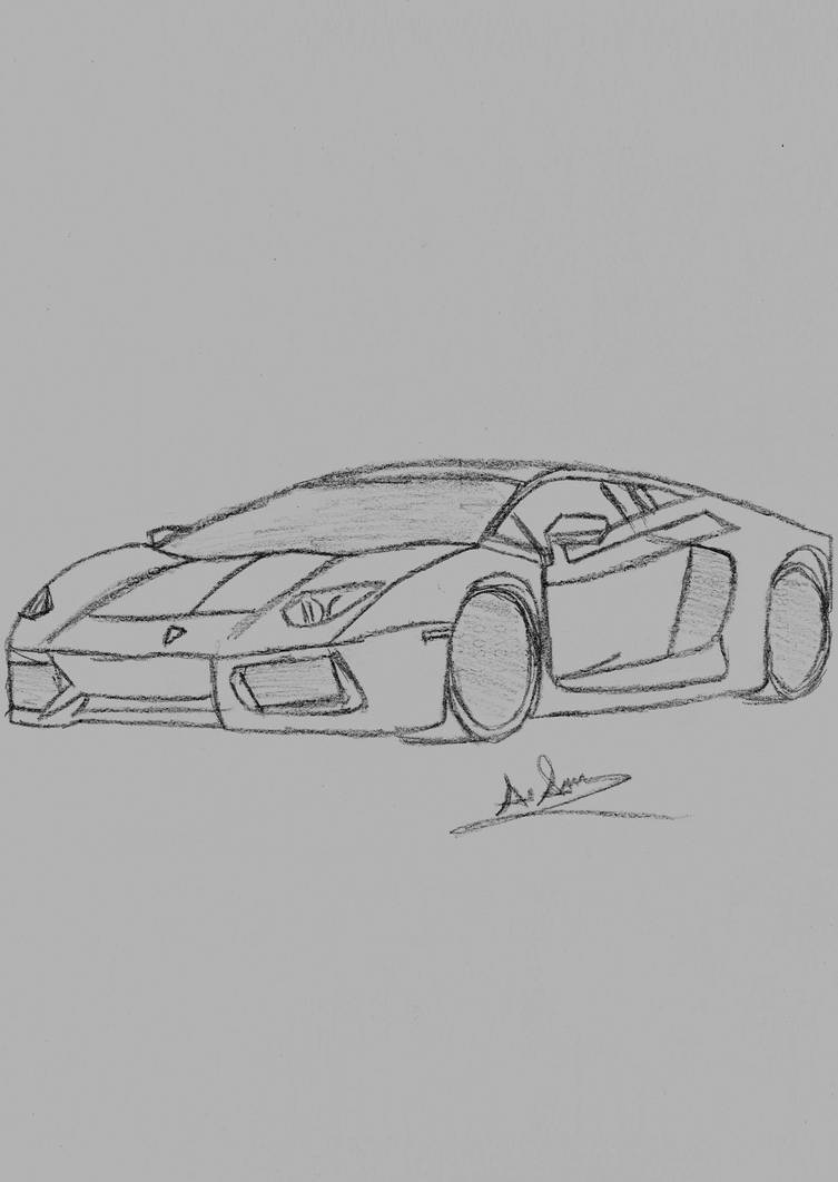 Lamborghini Sketch By Pixetomics On Deviantart