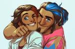 Reny and Gabe - Cheek Smoosh