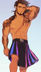 Gladio Enjoying Being Bisexual