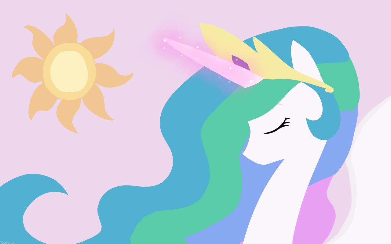 princess celestia wallpaper by nekosammsi