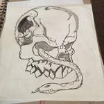 Spider, Snake, Skull tattoo design