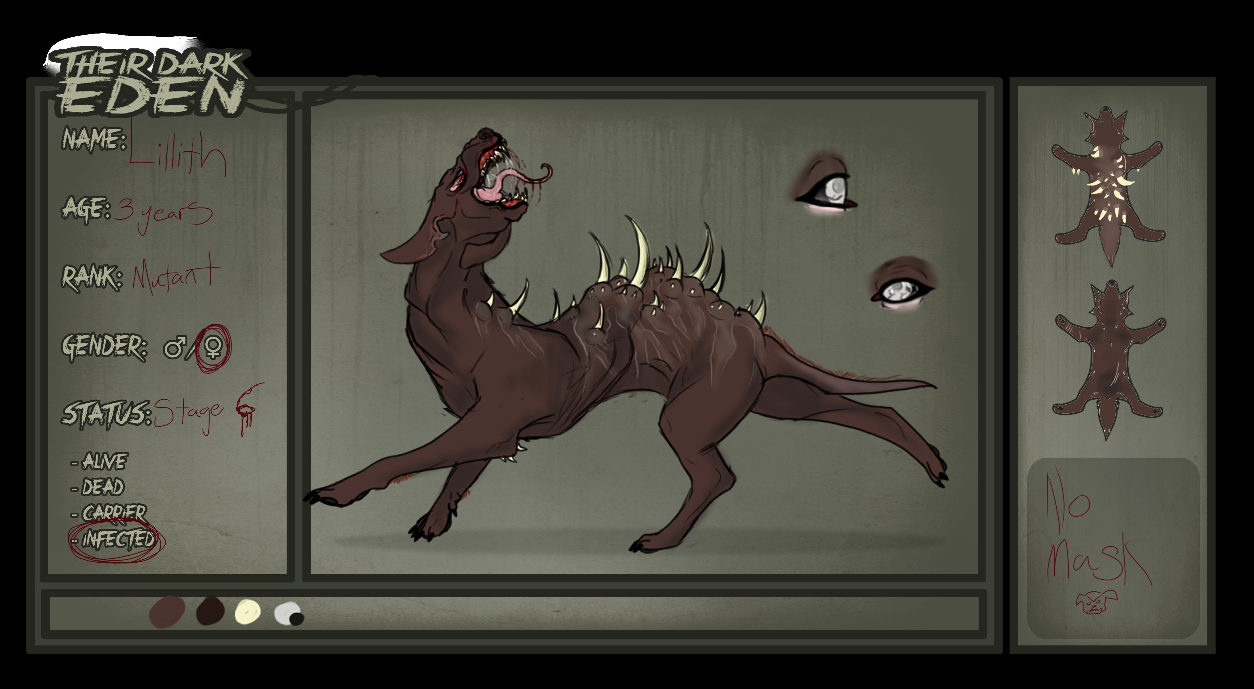 Their Dark Eden app- Lillith 2.0 by Death-By-CatBurger