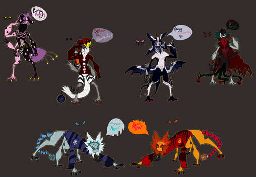 A cluster of spiders - [Guest Adopt] OPEN (5/6)