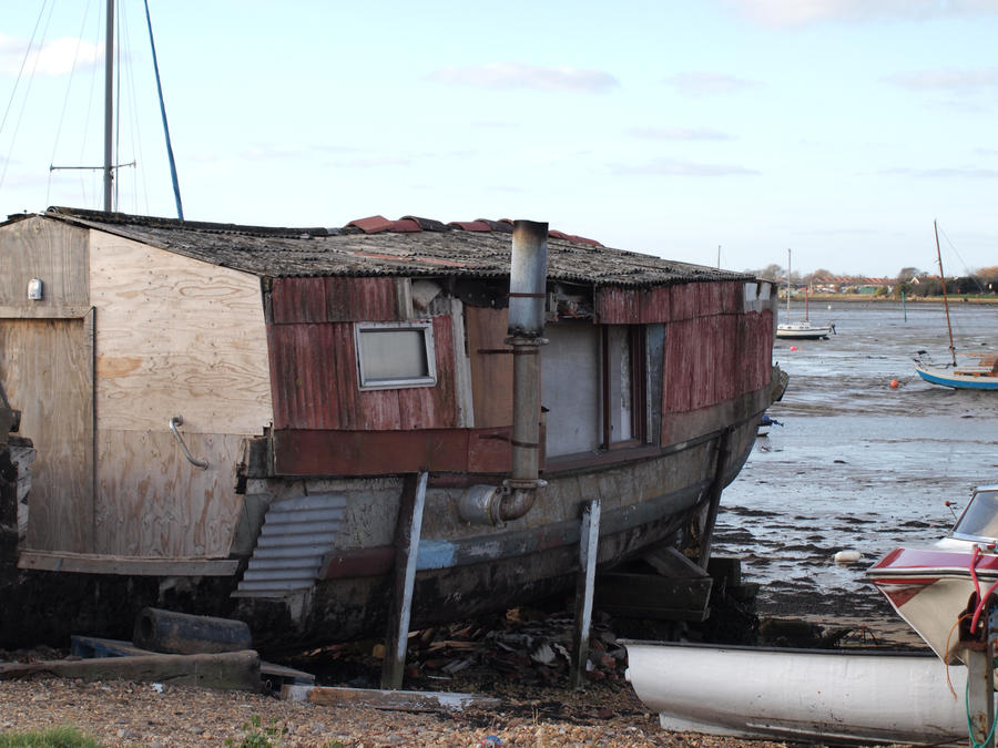 homemade house boat or house by pduffill on deviantart