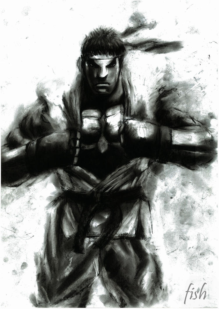 SF4 style Ryu by novicekid
