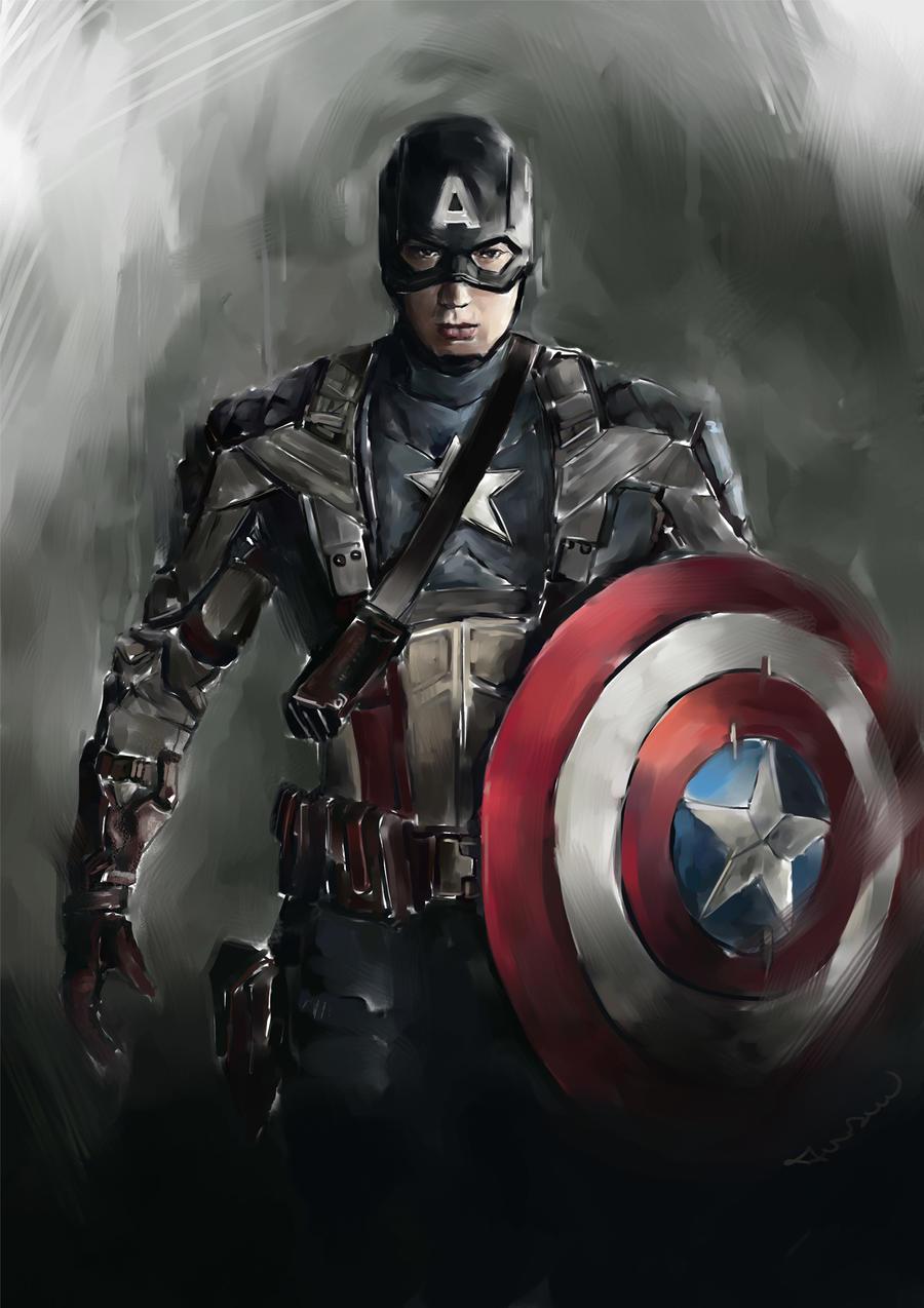 Kumpulan Sketsa Gambar Kapten Amerika Sketsa Gambar