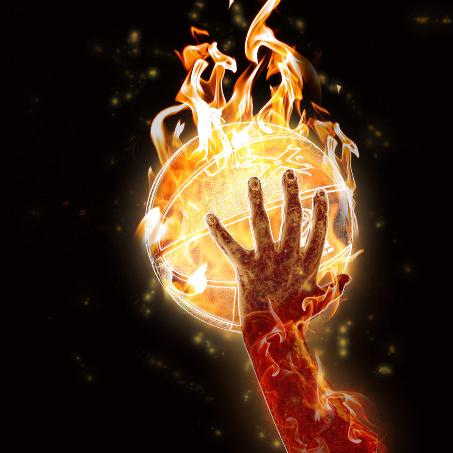 Cool Basketball Wallpapers: Basketball On Fire By FelipeS4rg On DeviantArt