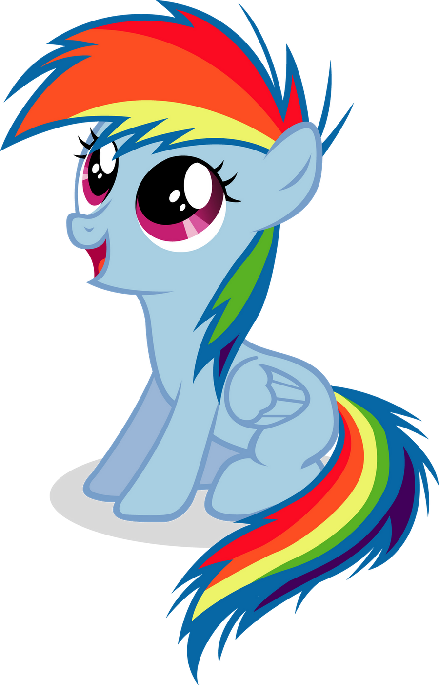 filly rainbow dash by Nightmaree-moon-sis on DeviantArt  Filly Rainbow Dash And Derpy