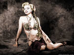 Monroe as Slave Leia Colorized