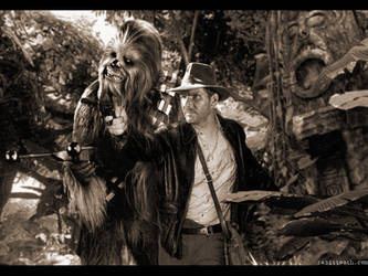 Chewbacca and Indiana Jones by Rabittooth