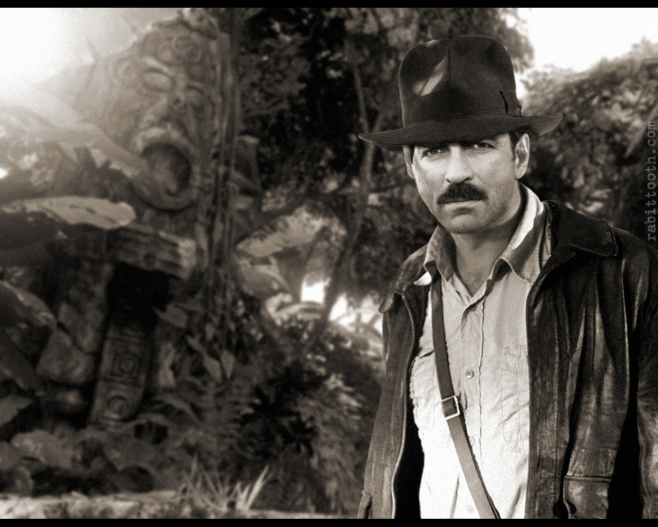Selleck as Indiana Jones by Rabittooth