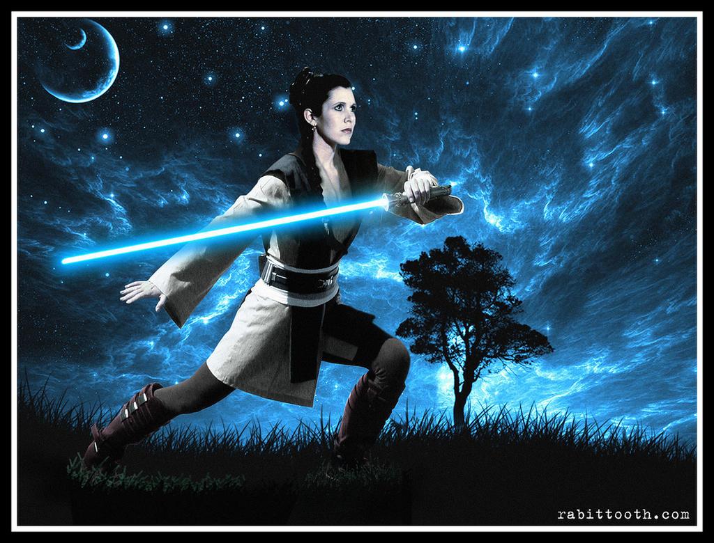 Leia Organa Solo Jedi Training by Rabittooth