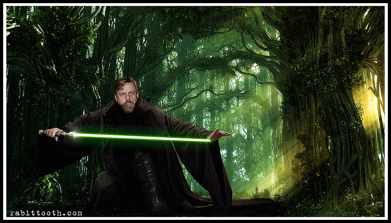 Jedi Master Luke Skywalker by Rabittooth