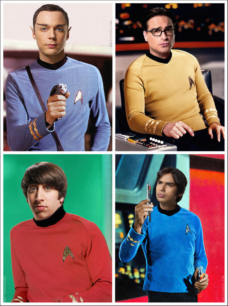 the big bang theory star trek by rabittooth on deviantart. Black Bedroom Furniture Sets. Home Design Ideas