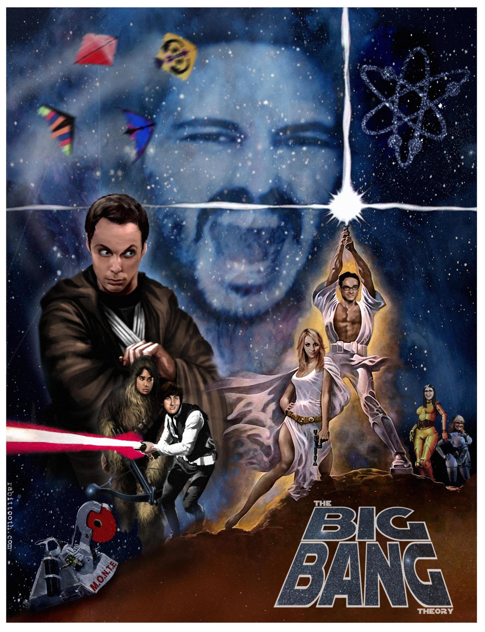 Funny big bang theory pictures 27 pics -  Big Bang Theory Star Wars Poster By Rabittooth