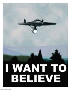 Enterprise X files I Want to Believe Poster
