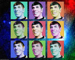 Warhol Inspired Smiling Spock