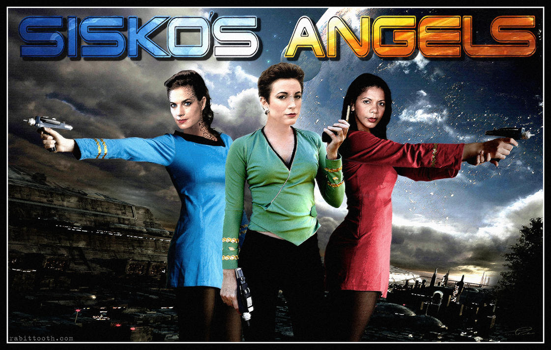 Sisko's Angels (Charlie's Angels / DS9 Mashup) by Rabittooth