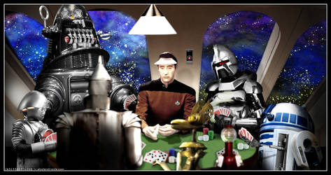 Droids Playing Poker by Rabittooth