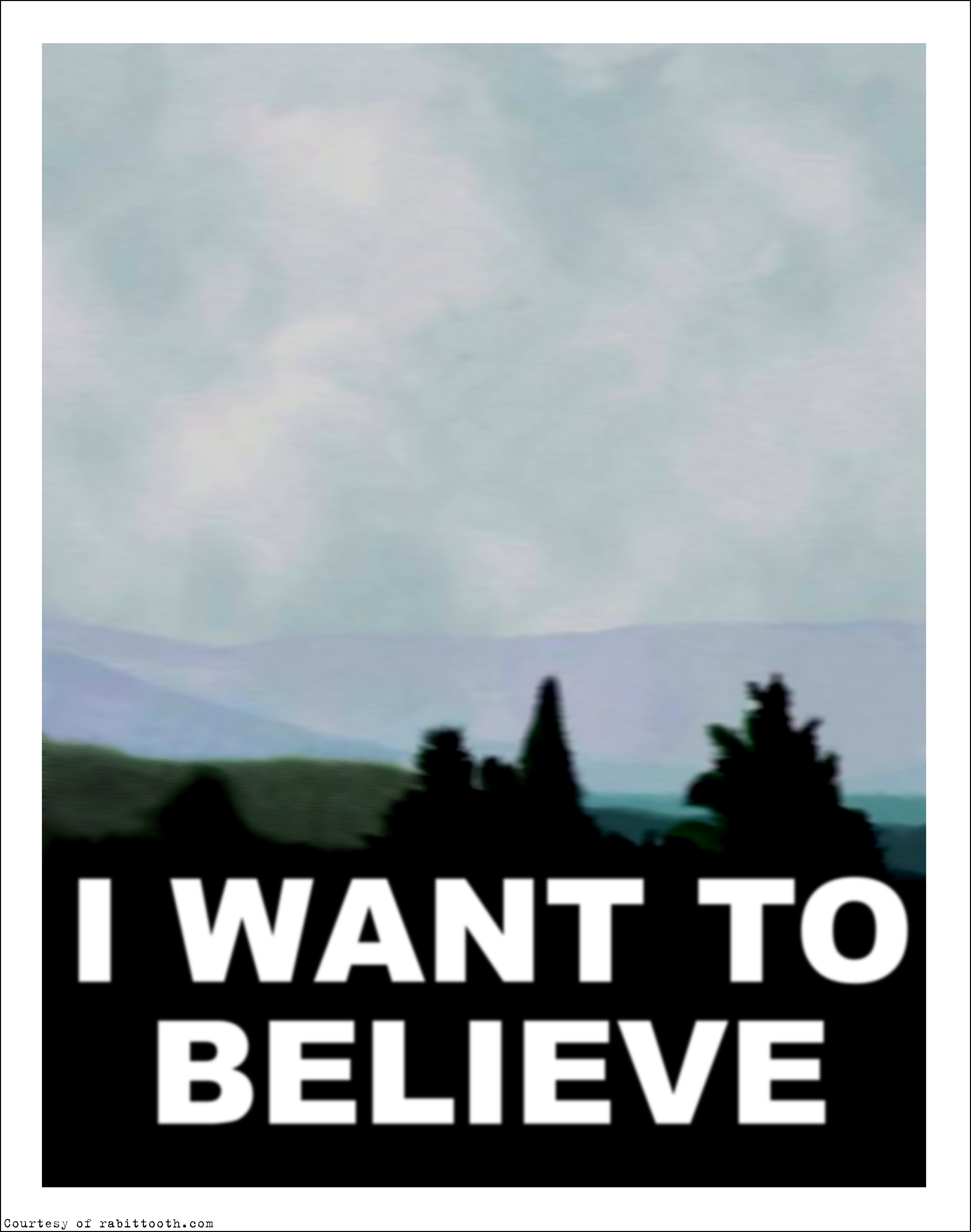 X Files I Want to Believe Poster BLANK by Rabittooth on ... X Files I Want To Believe Image