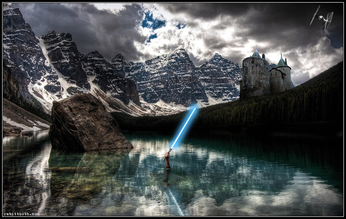 Lady of the Lake (Star Wars Lightsaber Version) by Rabittooth
