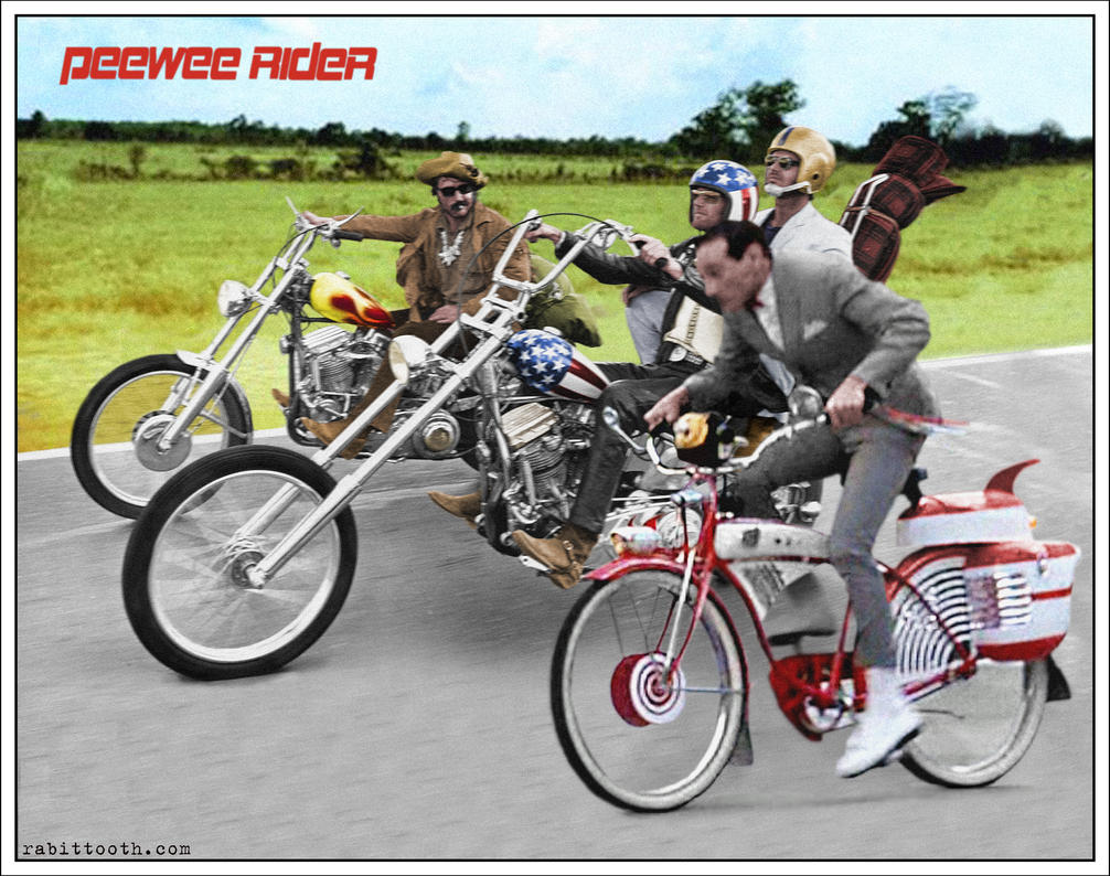 Pee Wee Rider (Pee Wee Herman / Easy Rider) by Rabittooth