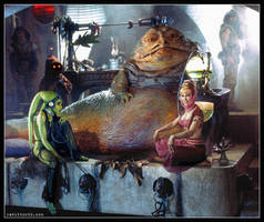 I Dream of Jabba (Star Wars / I Dream of Jeannie) by Rabittooth