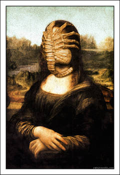 Mona Lisa with Facehugger ( da Vinci / Alien )