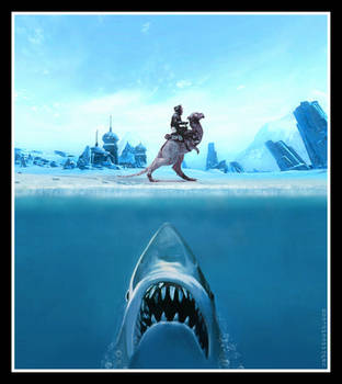 Jaws of Hoth  ( Jaws / Star Wars ) by Rabittooth