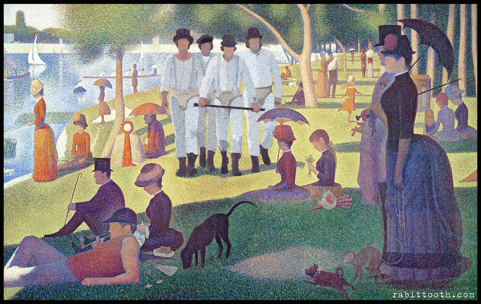 A Clockwork Sunday ( Seurat / Clockwork Orange ) by Rabittooth