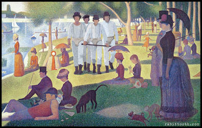 A Clockwork Sunday ( Seurat / Clockwork Orange ) by Rabittooth