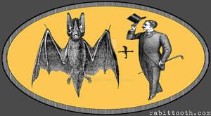 Steampunk / Victorian Bat plus Man logo tee design