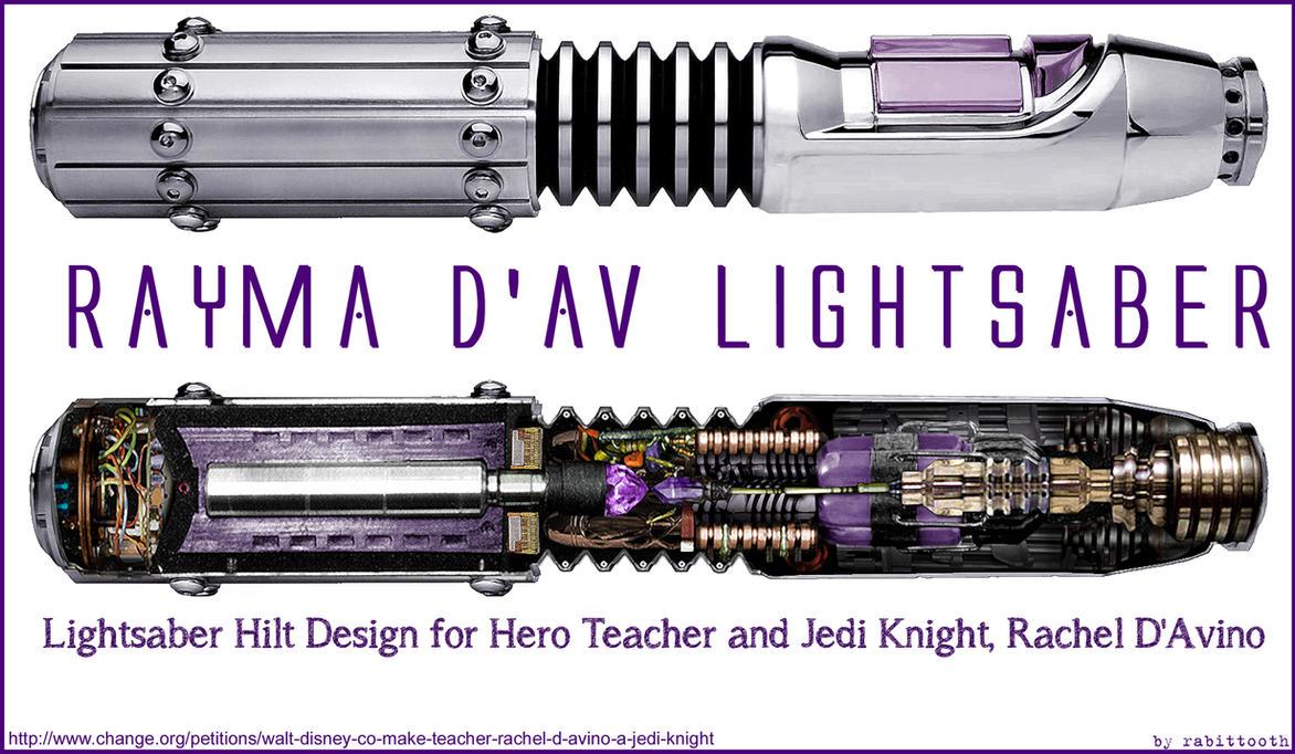 Rayma D'Av Lightsaber Design by Rabittooth