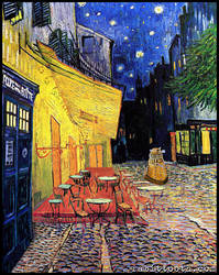 Dr. Who at Cafe Terrace (Dr.Who/Van Gogh)