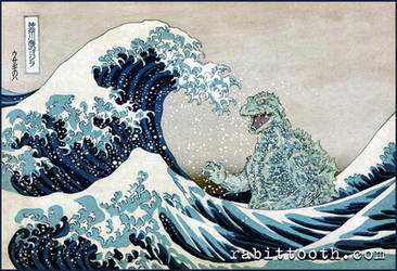 Godzilla Off Kanagawa (  Hokusai / Godzilla )